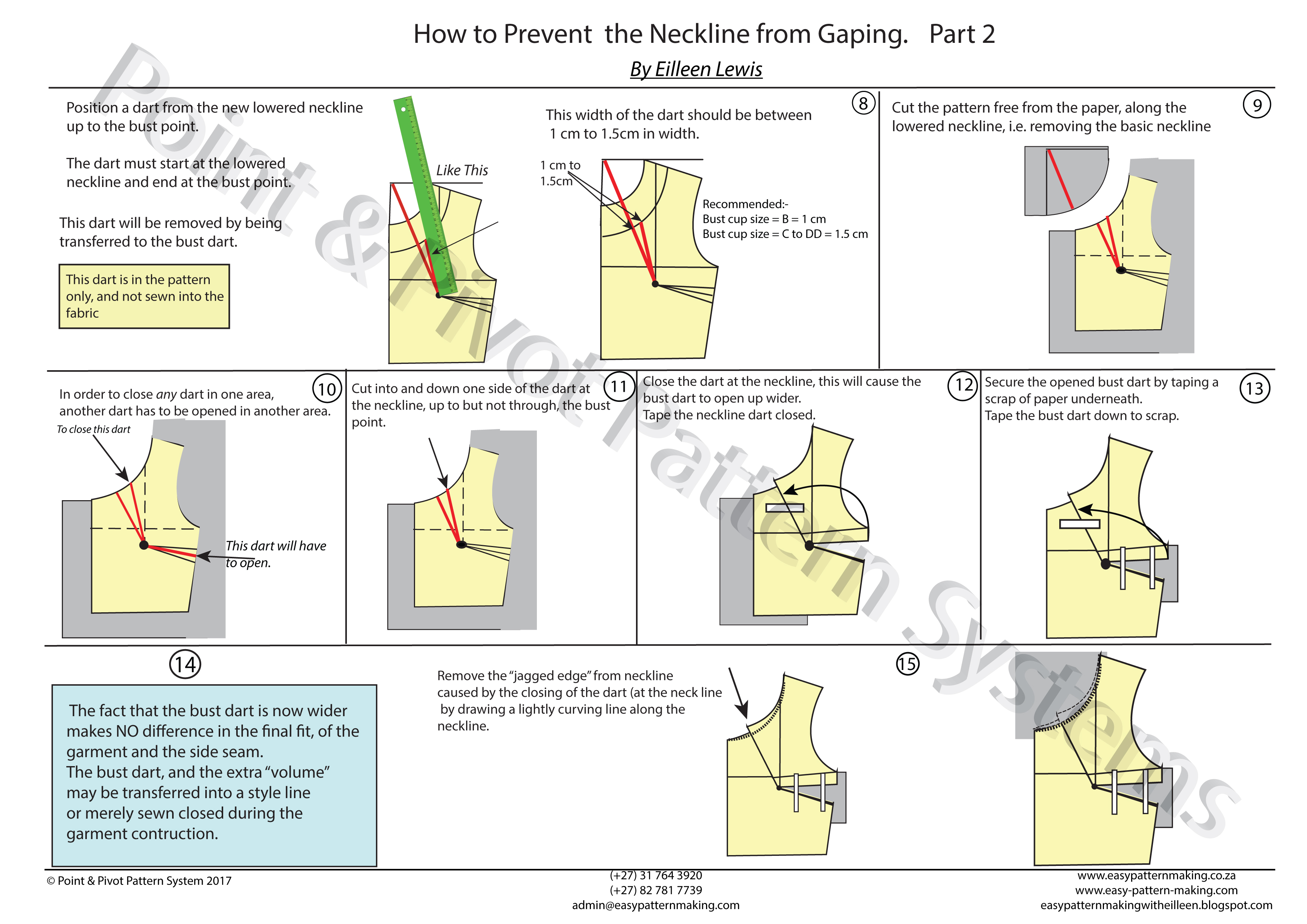 Pattern Techniques – How To Prevent The Neckline From Gaping – Part 2