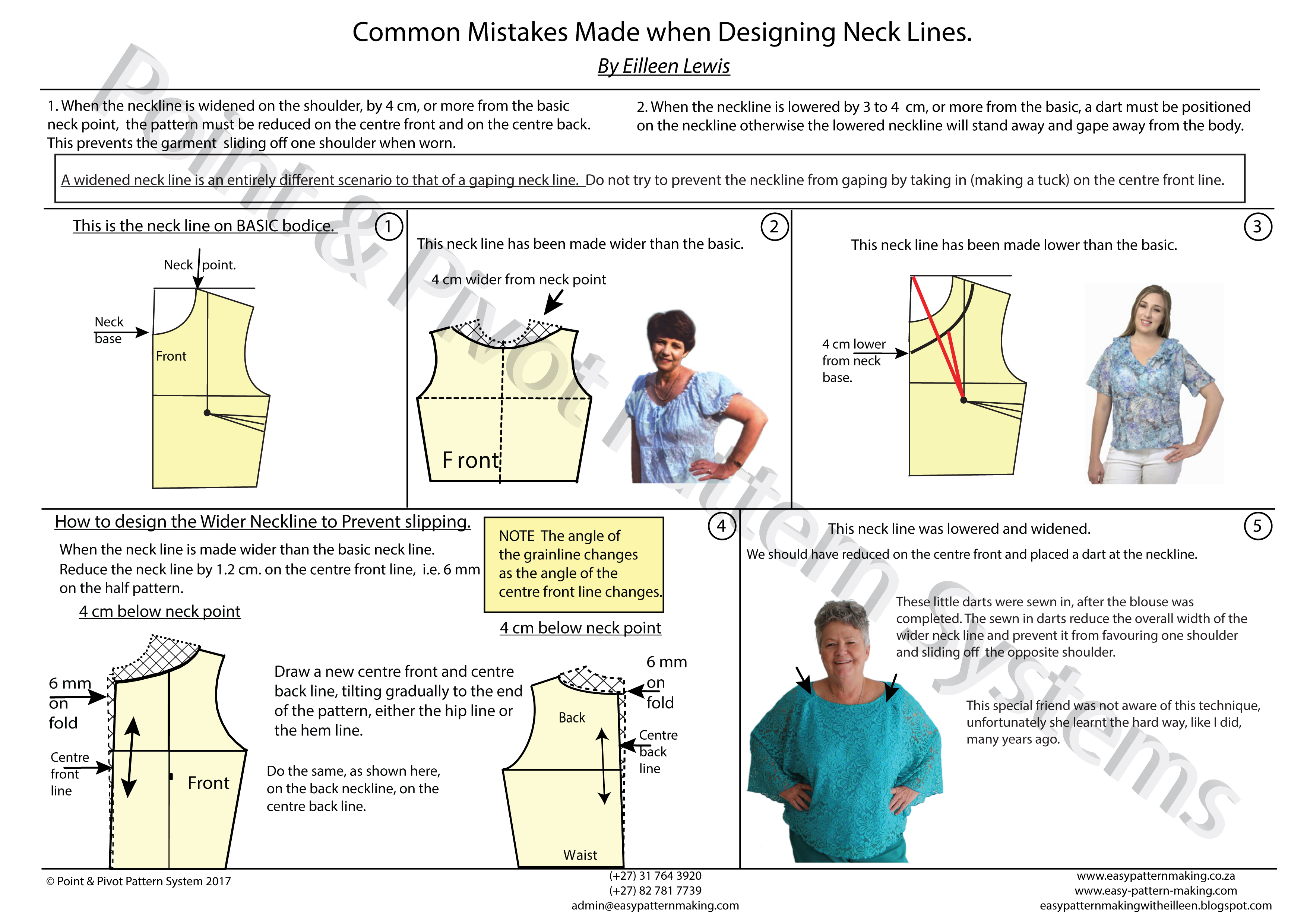 Pattern Techniques – Common Mistakes Made When Designing Neck Lines
