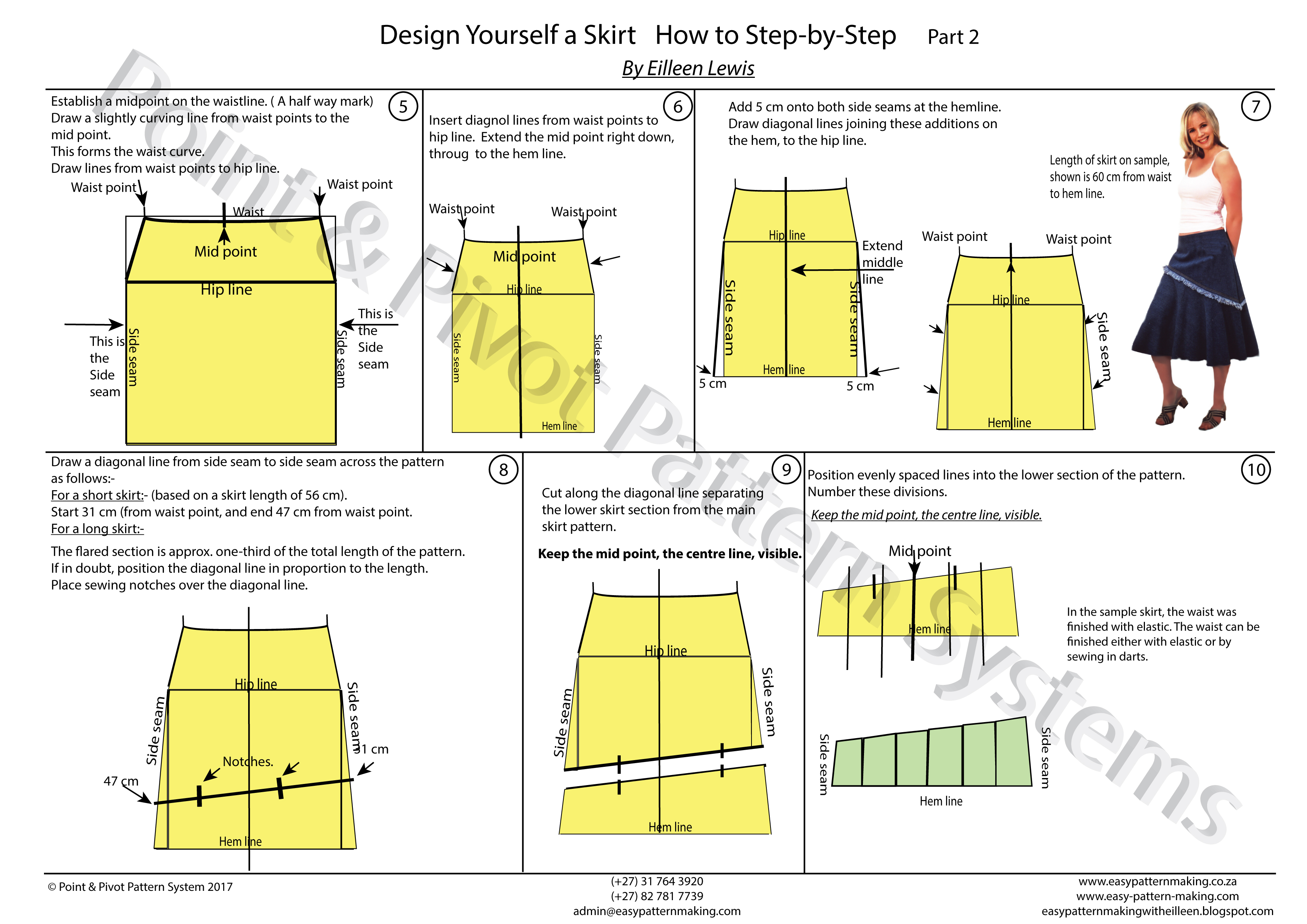 Pattern Techniques – How To Design A Skirt Part 2