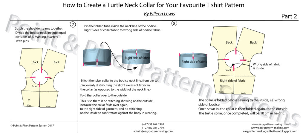 Pattern Techniques - How To Make A Turtle Neck Collar page 2
