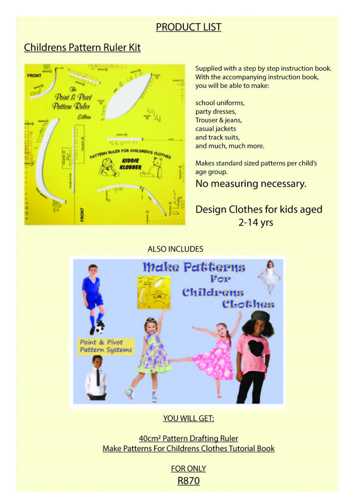 Make Sewing Pattern - Easy Pattern Making - Product List Page 2