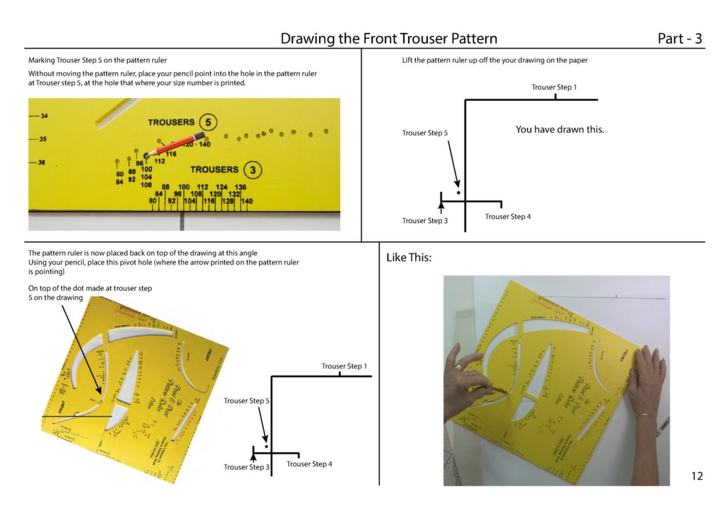 Make Perfect Trousers - Tutorial Book - Make Sewing Patterns